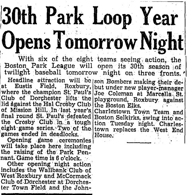 30th Park Loop Year Opens Tomorrow Night