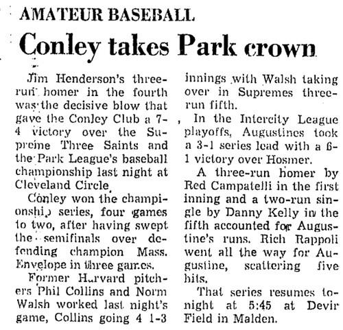 Conley Takes Park Crown