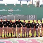 J.P. Songin and his teammates at Fenway.