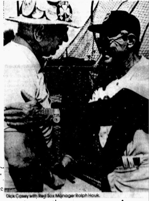 Dick Casey with Red Sox Manager Ralph Houk
