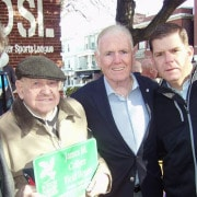 Jim Collyer with BPL President Walter Bentson, former Mayor Ray Flynn, Boston Mayor Marty Walsh and State Sen. Linda Dorcena Forry.