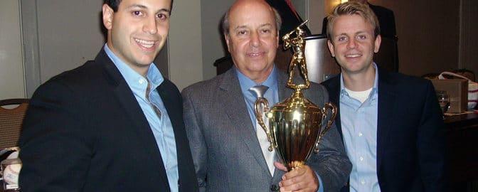 Dana Dresser, Harvey Soolman and Erik Mayberg at the BoSox Luncheon honoring the Boston Park League