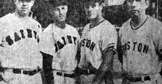 Boston Park League Leaders: Jack Kelliher, Skip Mortimer, Tommy Bilodeau, Walt Mortimer.