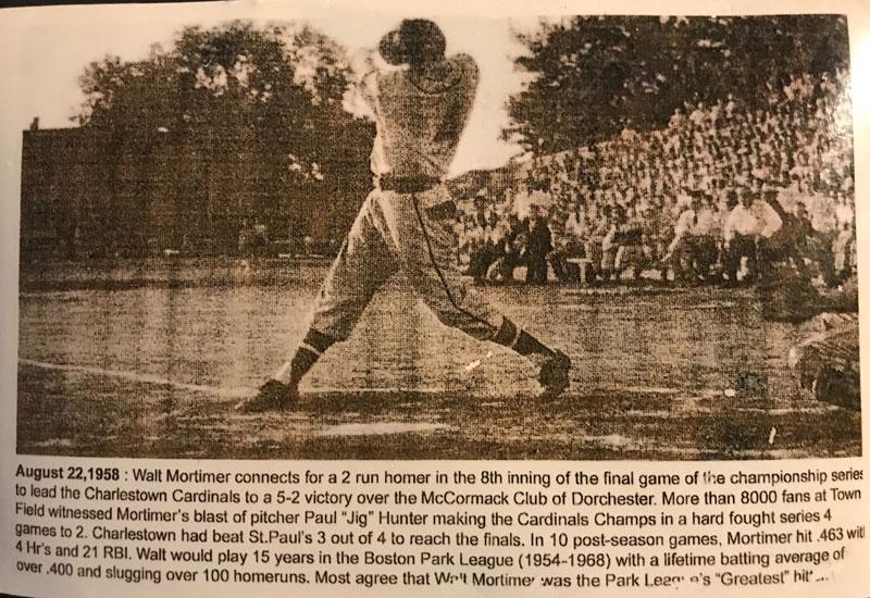 Walt Mortimer BPL article from 1958